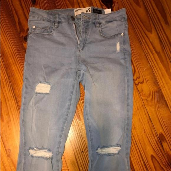 Garage Denim - light wash ripped jeans